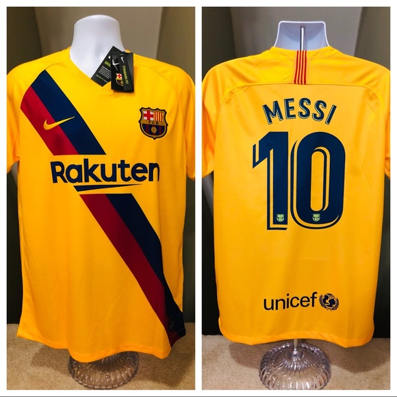 new arrival cabd4 8a7e6 🔥 2019 AWAY New Barcelona Soccer Jersey MESSI #10 NWT